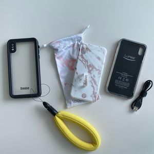 iPhone 10 XS Max Case Bundle (Lumee, Loopy)